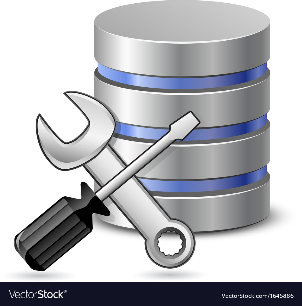 Screwdriver spanner and database icon