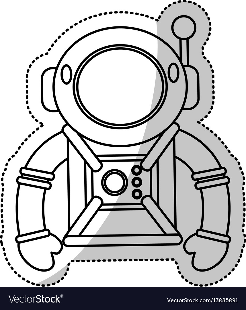 Astronaut suit helmet space outline