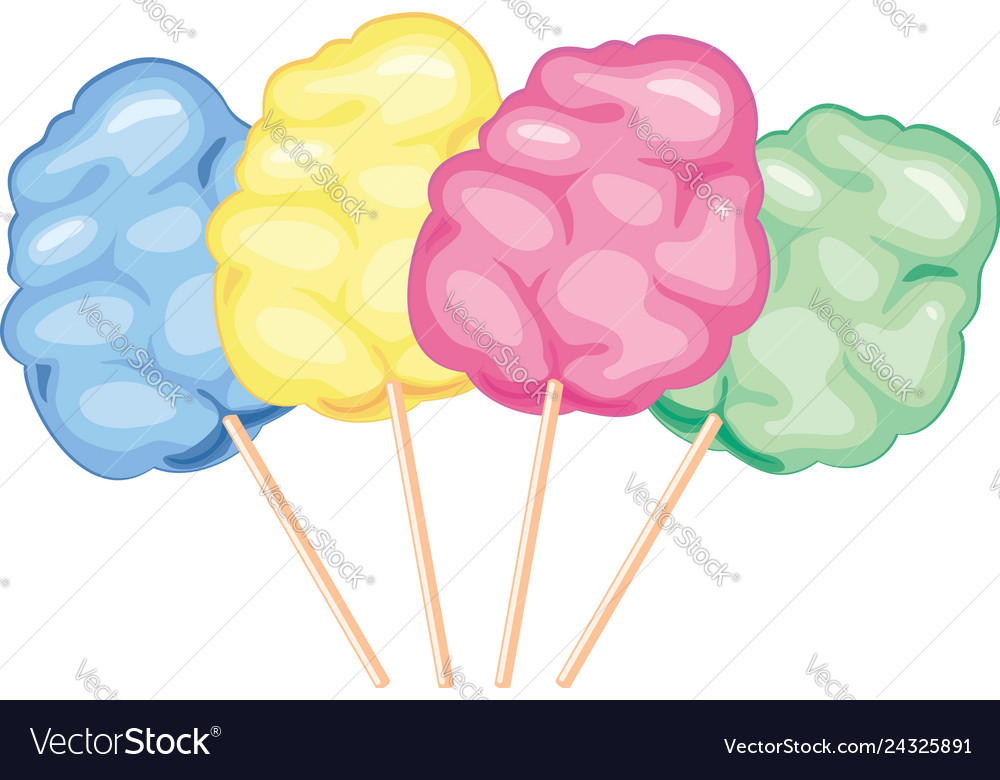 Colorful candy cotton