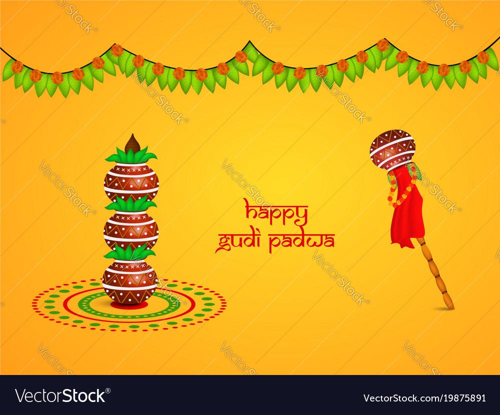 Hindu Festival Gudi Padwa Background Royalty Free Vector