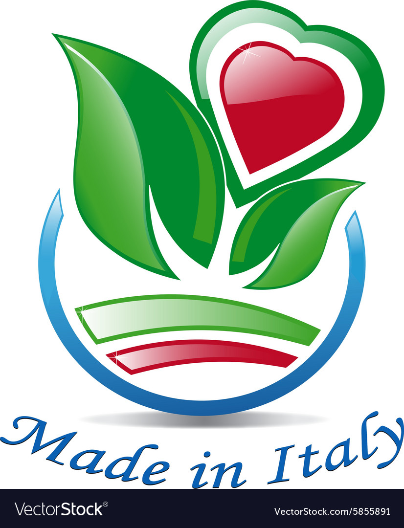 Italian heart among the leaves