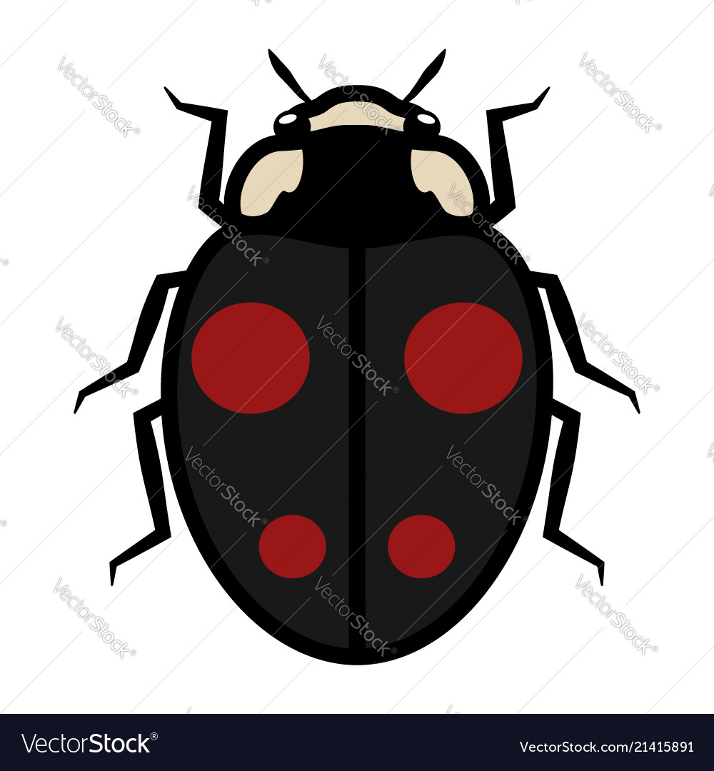 Ladybug logo symbol icon sign with four red spots