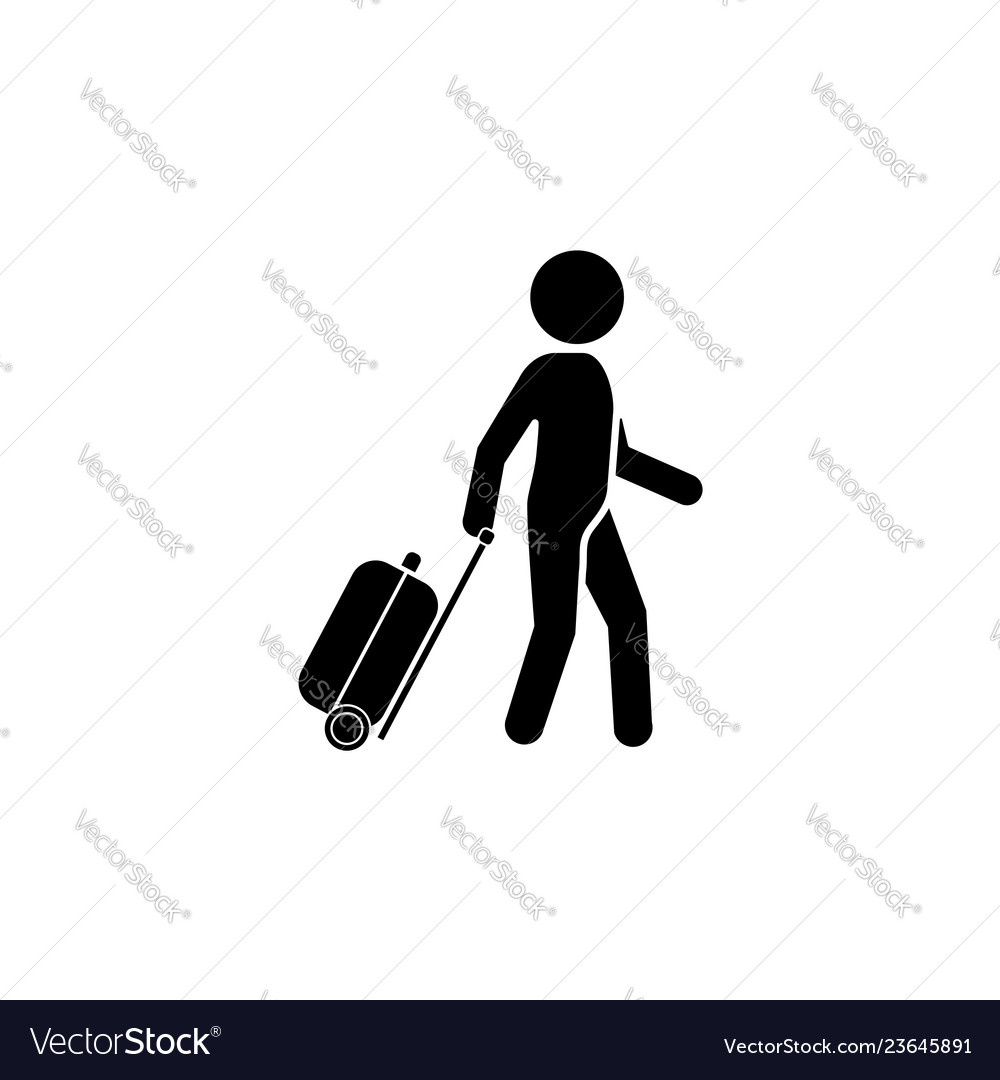 Man with a suitcase icon traveler icon