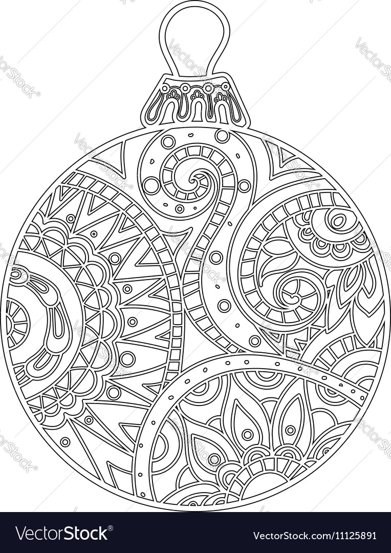 New year Christmas ball vector image