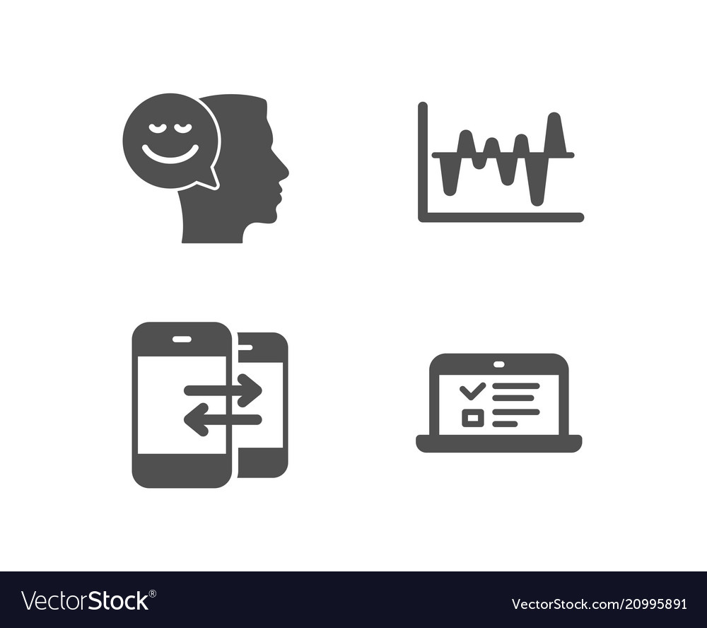 Phone Communication Stock Analysis And Good Mood Vector Image