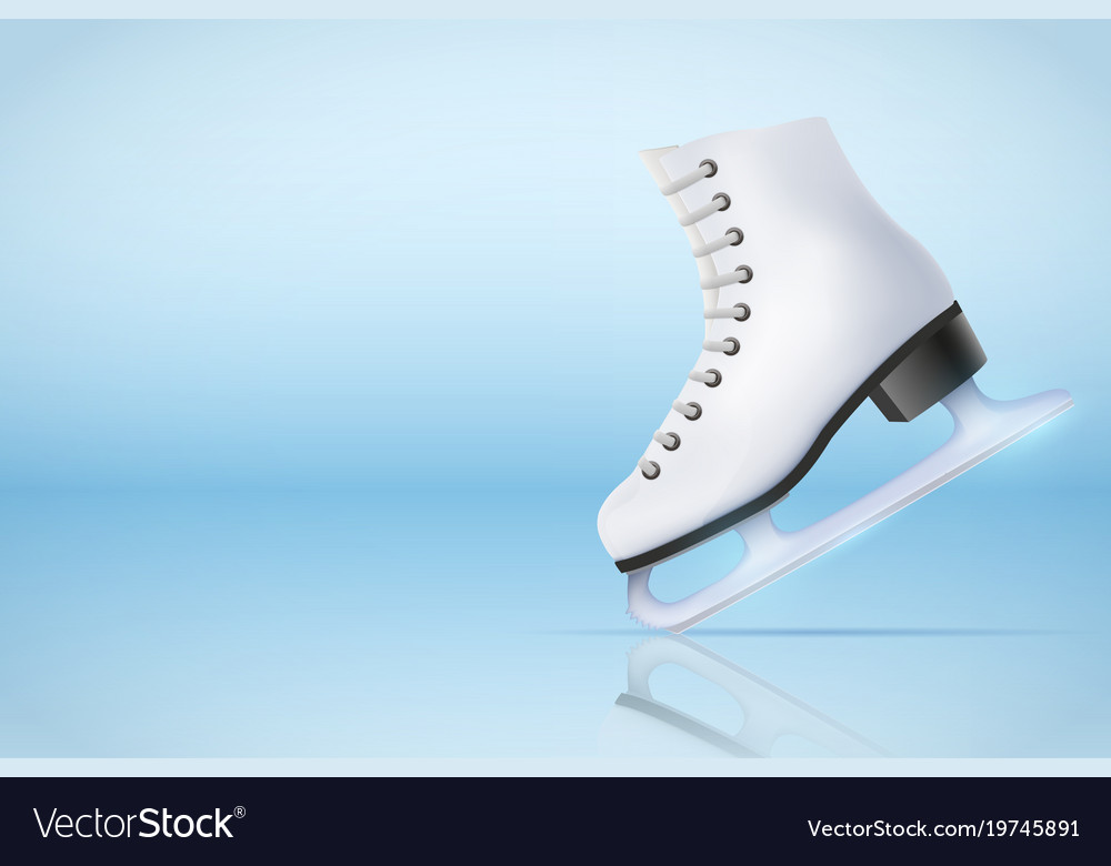 Poster template of ice skating rink Royalty Free Vector