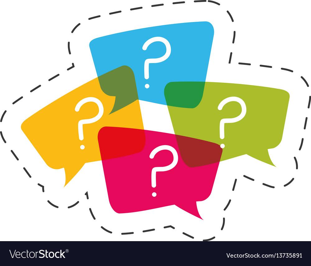 Question mark bubble speech image
