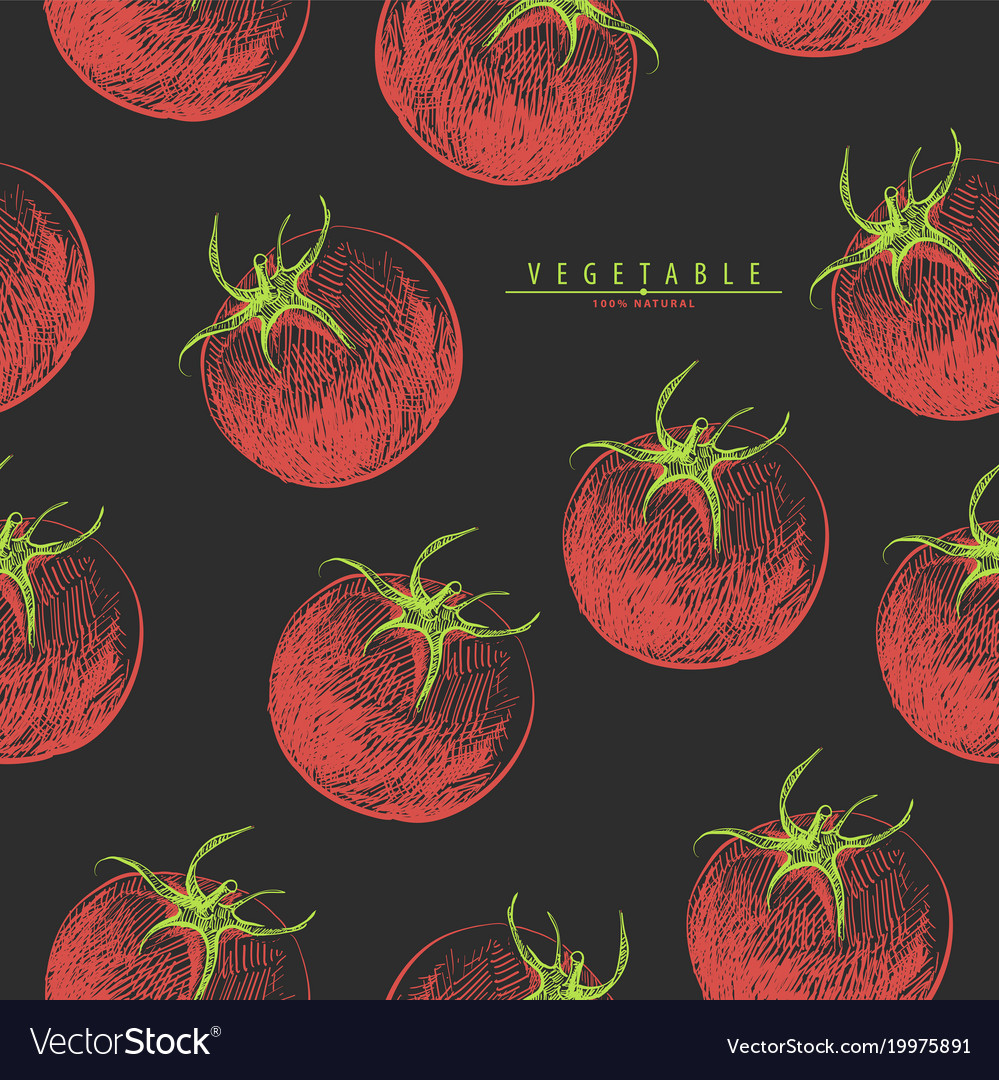 Red tomatoes seamless vector image