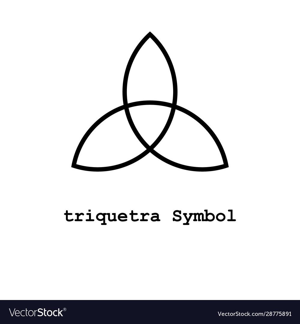 Triquetra symbol icon
