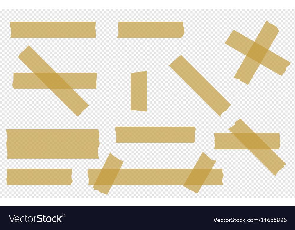 Adhesive tape transparent pieces set