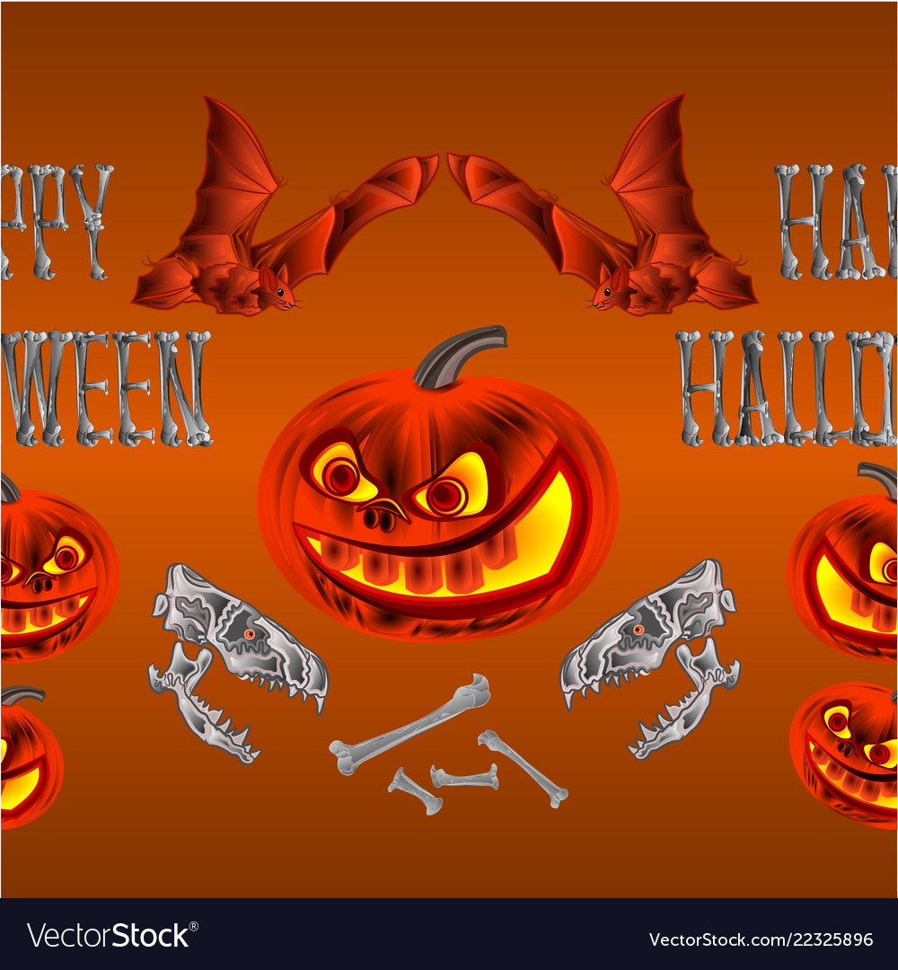 Border seamless background happy halloween