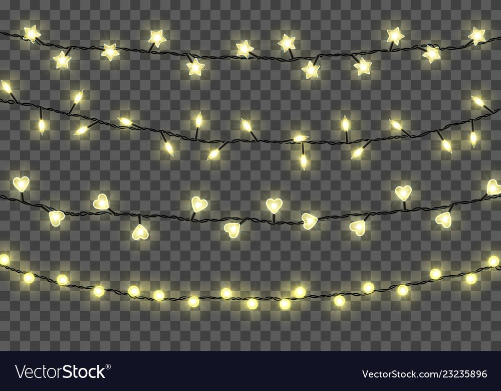 Christmas Lights Transparent Background.Christmas Lights Isolated On Transparent Vector Image On Vectorstock
