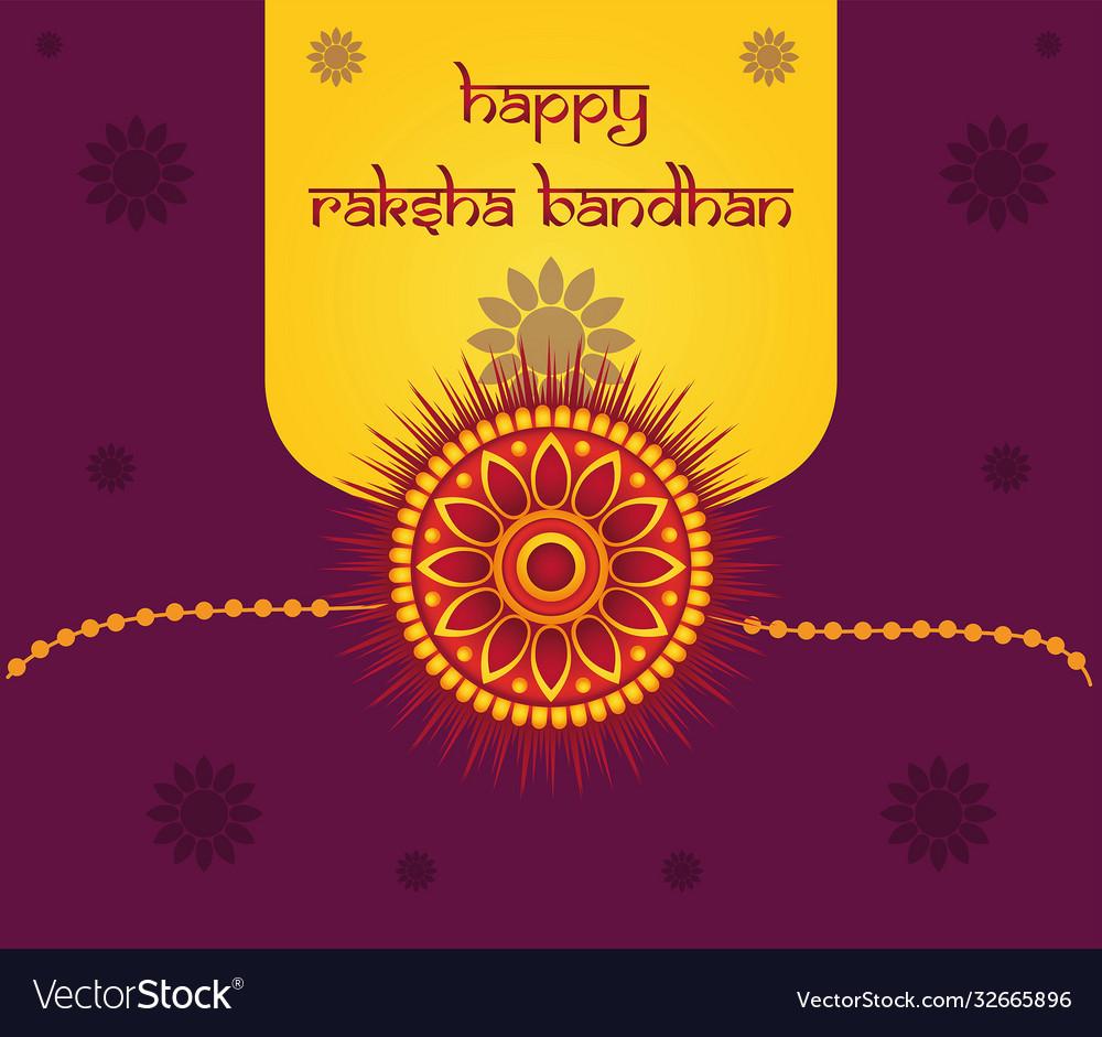 Colorful greeting card design for raksha bandhan