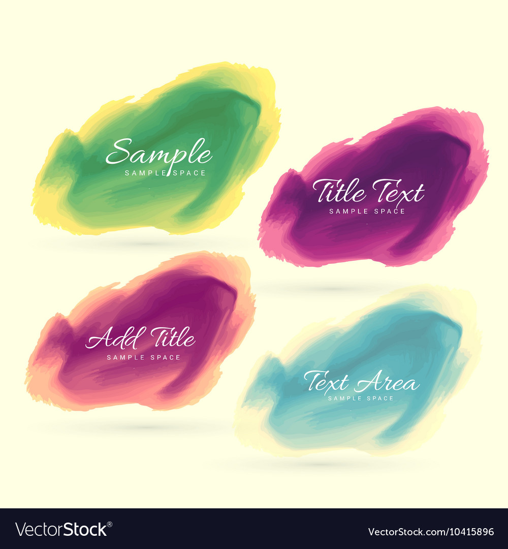 Ink watercolor stain design vector image