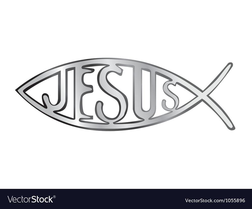jesus fish royalty free vector image vectorstock rh vectorstock com Jesus Fish SVG jesus fish vector free