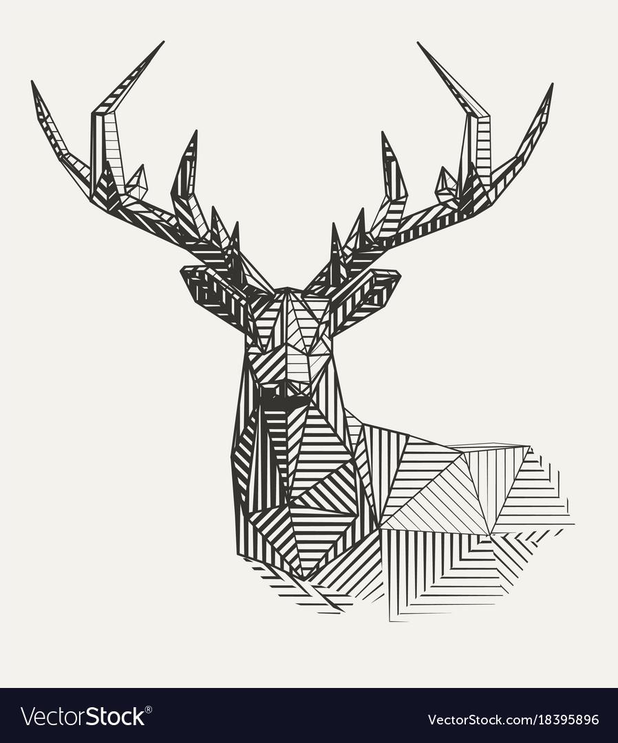 low-poly-line-art-vector-18395896 Awesome Illustrator Line Art Vector @koolgadgetz.com.info