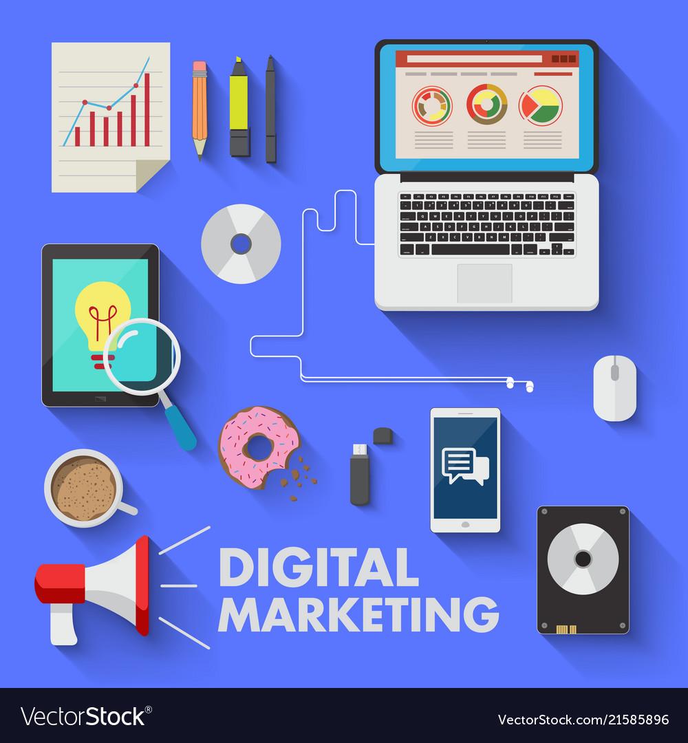 Marketing technology digital media laptop business