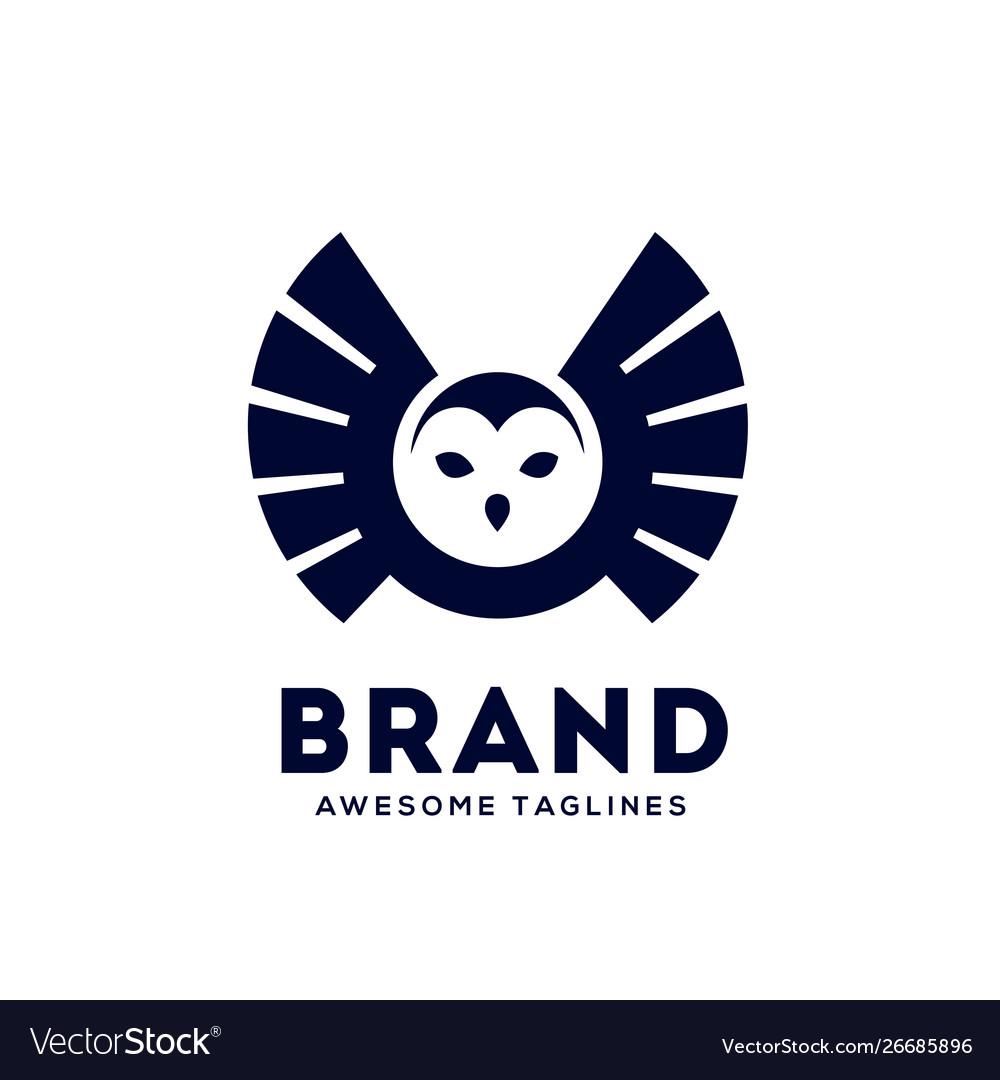 Owl fly logo