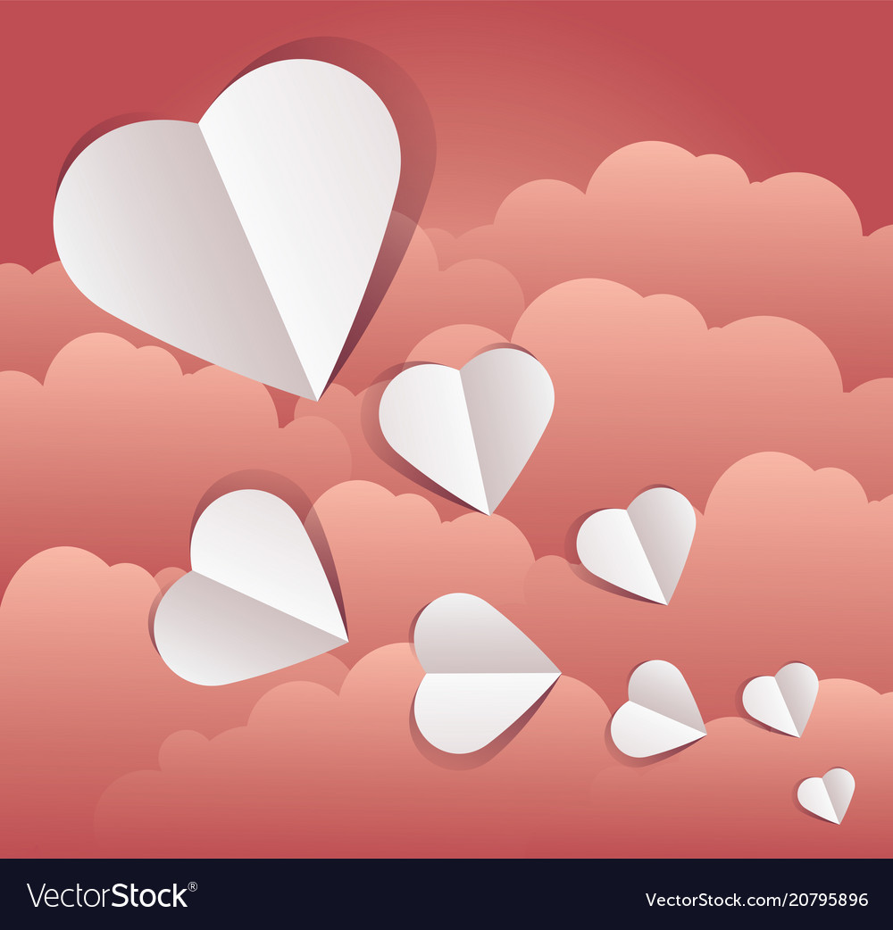 Paper cut outs hearts