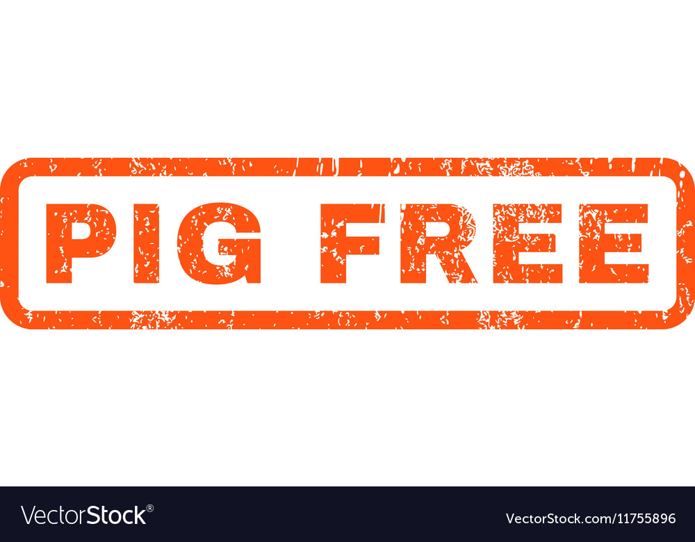 pig free rubber stamp royalty free vector image