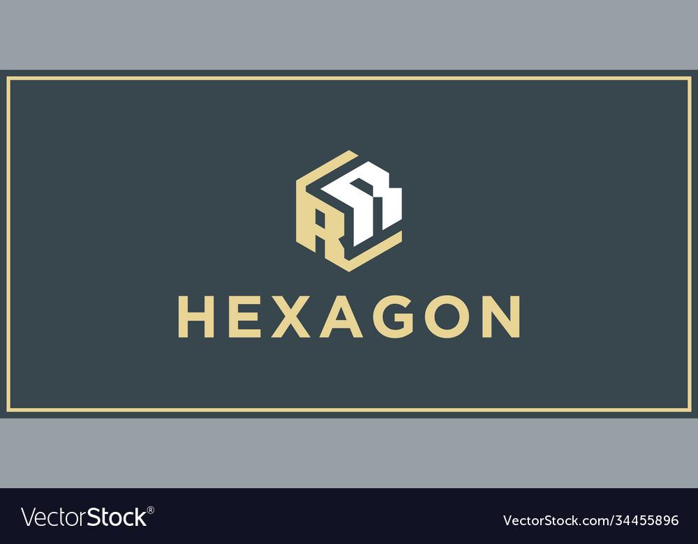 Rr hexagon logo design inspiration