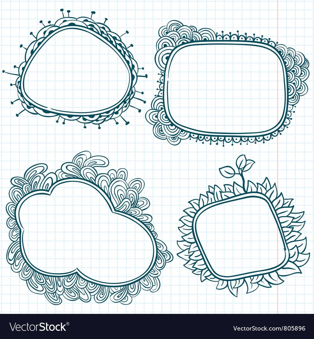 Sketchy doodle frames
