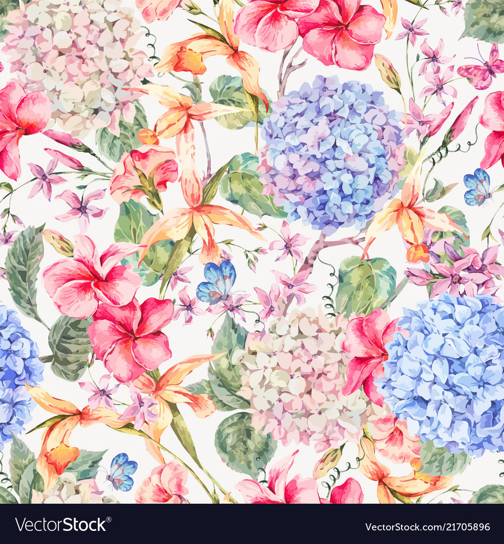 Vintage floral greeting card with