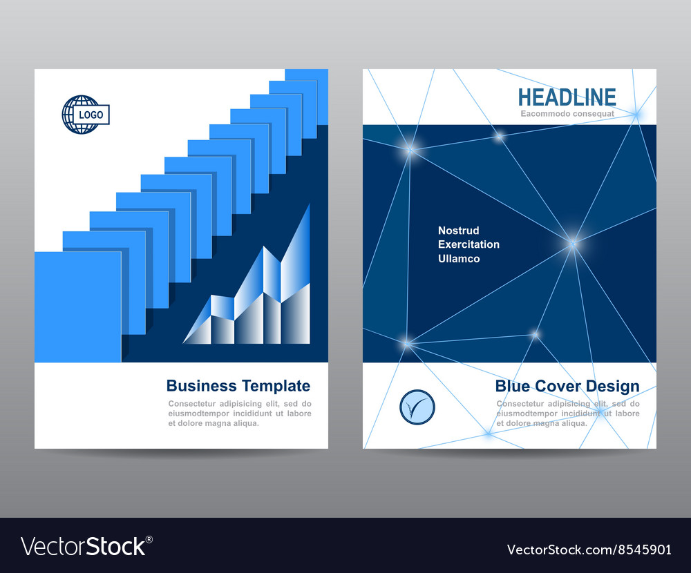 Book brochure flyer leaflet template abstract vector image