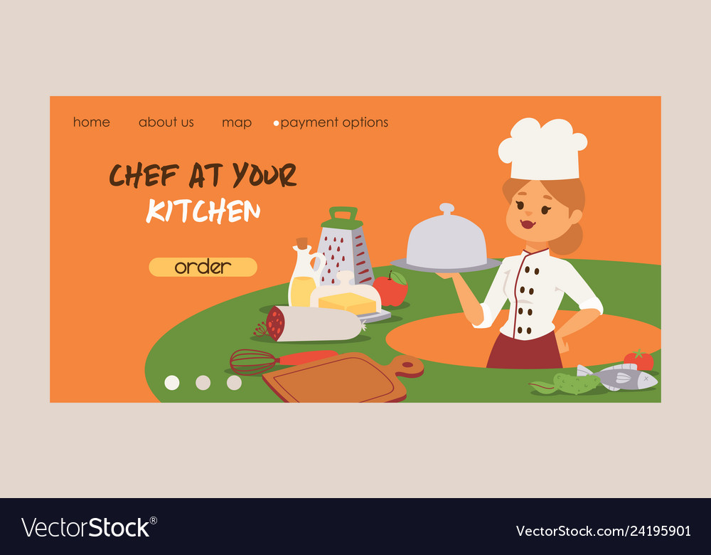 Chef cook character woman or man cooking