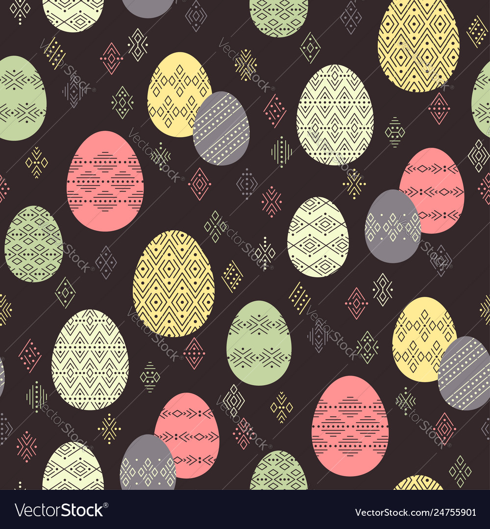 Easter ethnic pattern