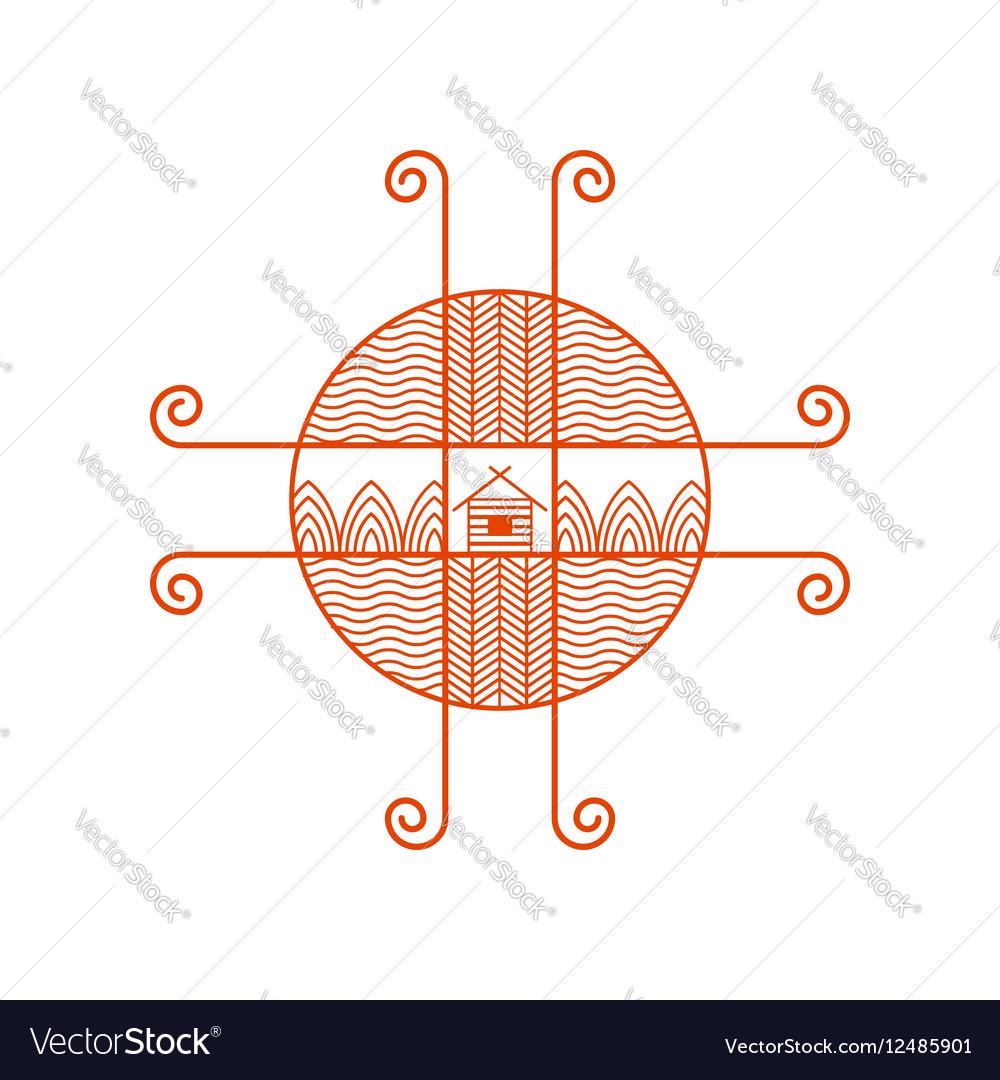 Logo ethno vector image