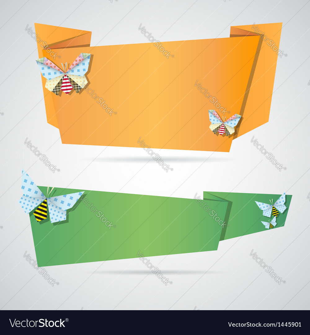 origami notepaper folded note sheets royalty free vector