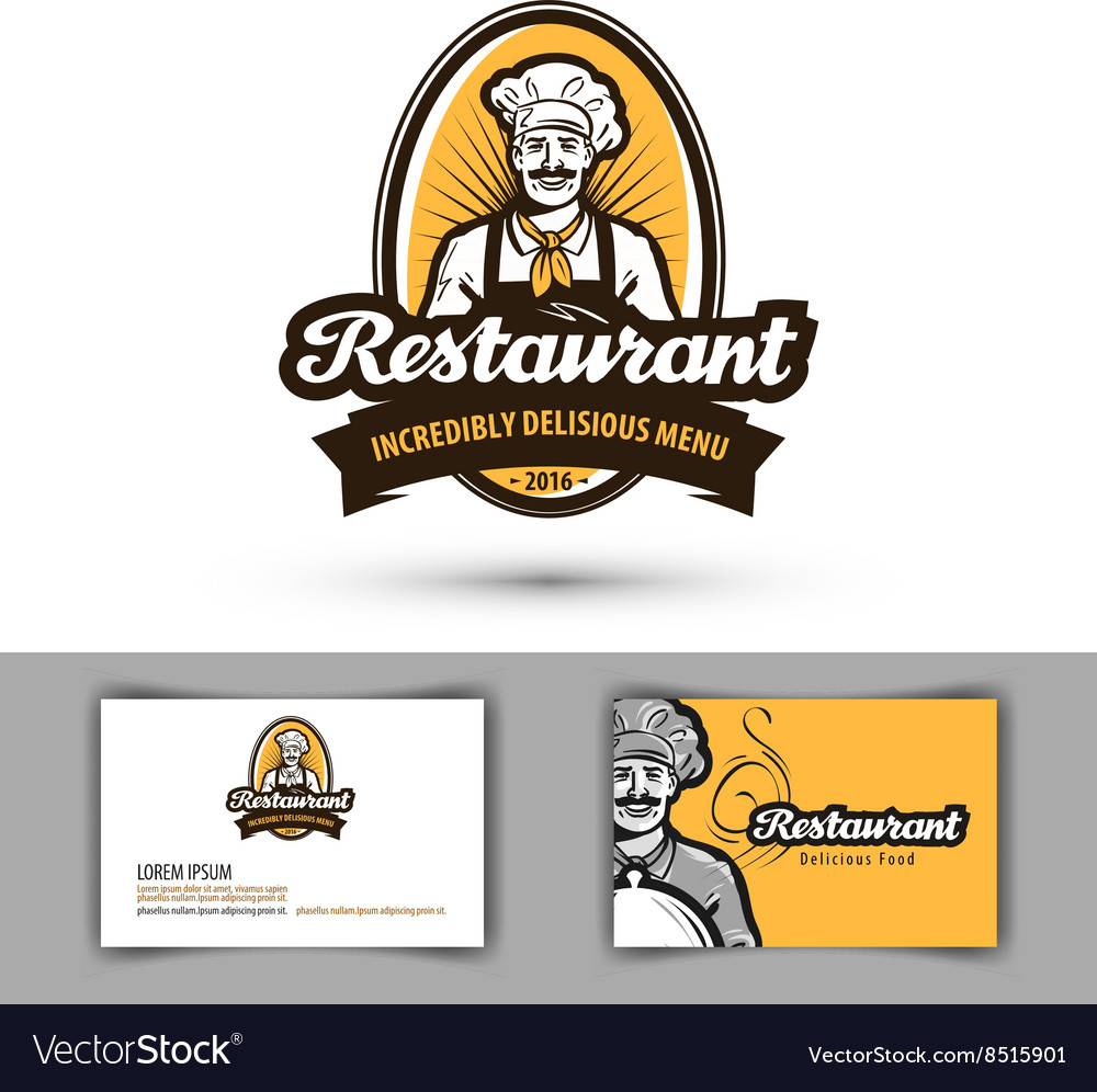 Restaurant logo cafe diner or bistro icon
