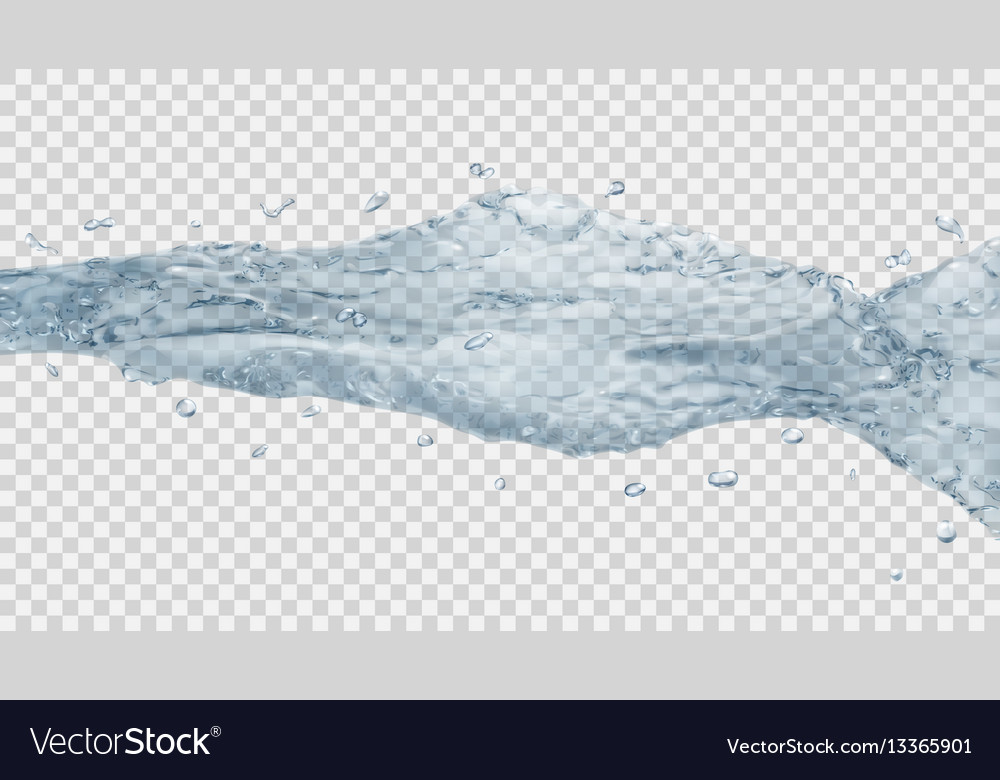 Transparent water jet vector image