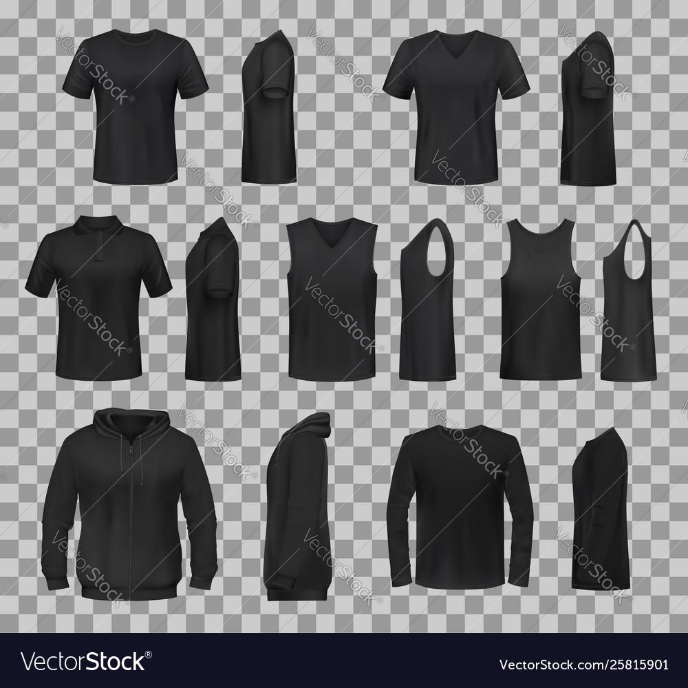 Women shirts clothes black 3d template models
