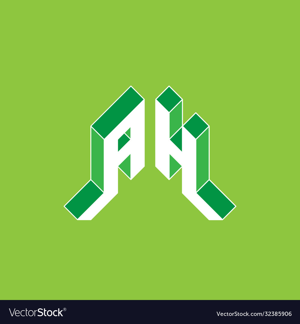 Ah - monogram or logotype a and h - 2-letter code