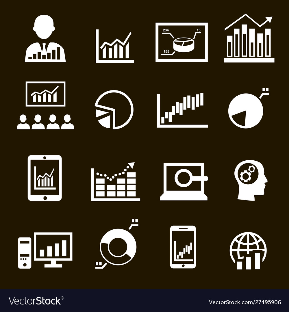 Business analysis diagrams icons graphic