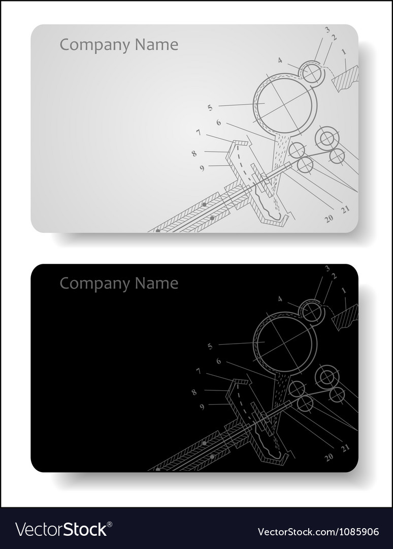 Business card for the engineer Royalty Free Vector Image