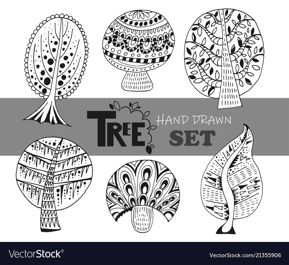 Doodle trees set
