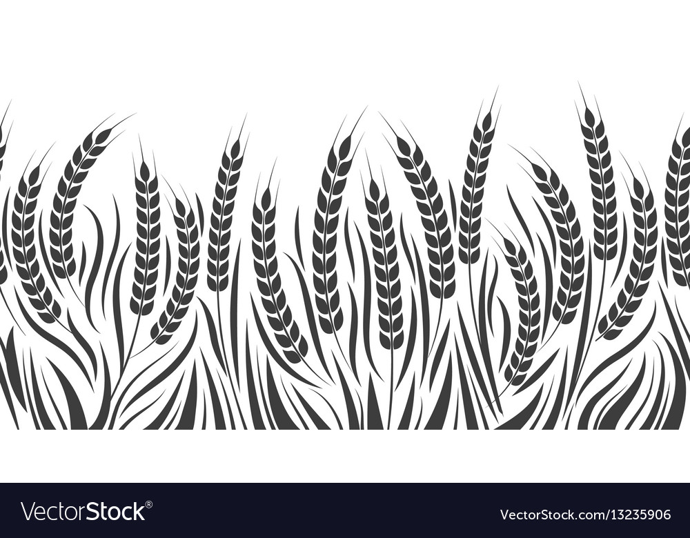 Harvest horizontal wheat pattern vector image