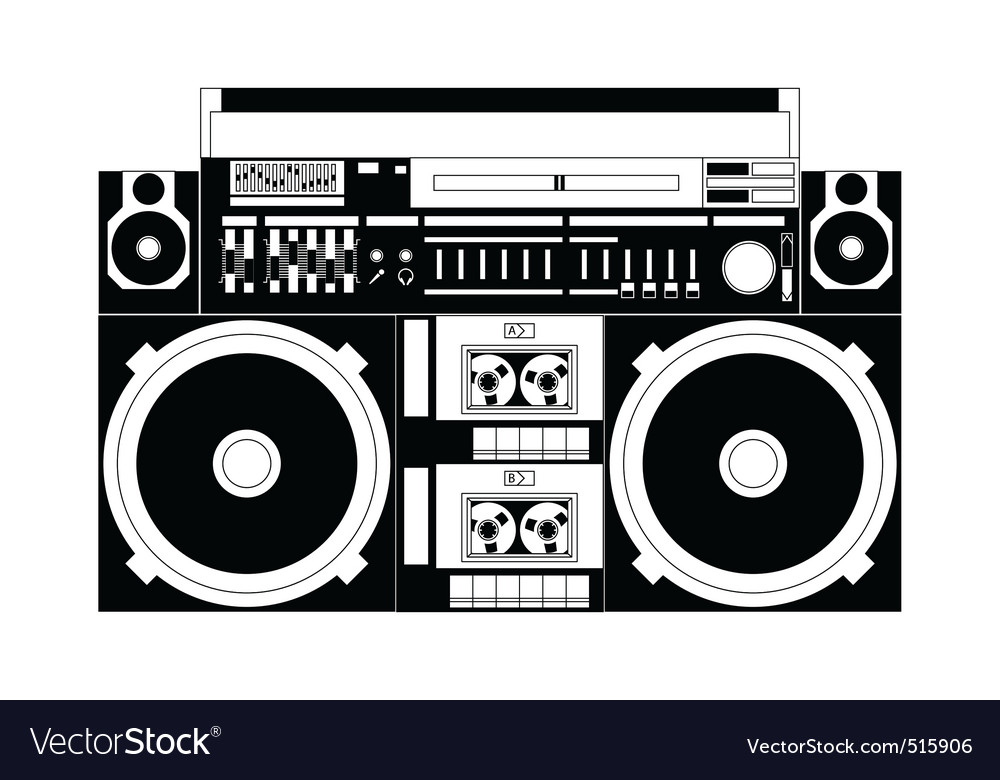 old school boombox royalty free vector image vectorstock rh vectorstock com boombox vector free download boombox vector free download