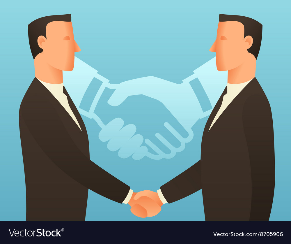Partnership business conceptual with