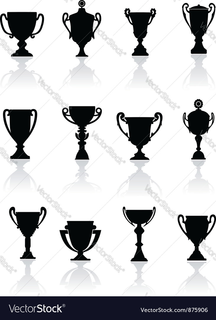 Set of sports trophies vector image