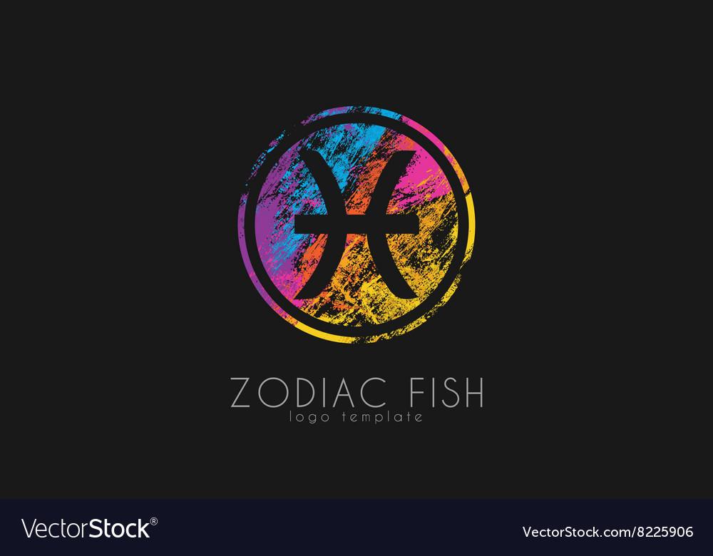 Zodiac fish logo Fish symbol logo Creative logo