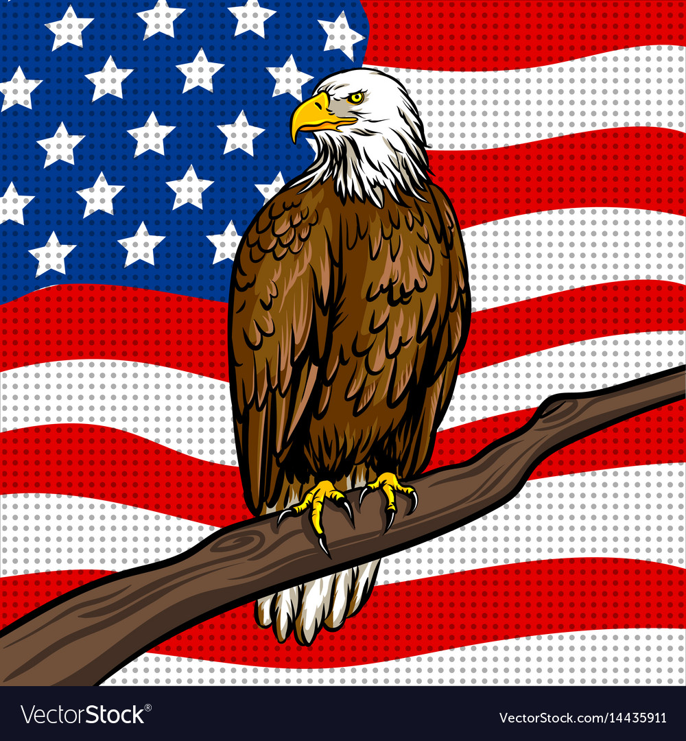 American eagle pop art style vector image
