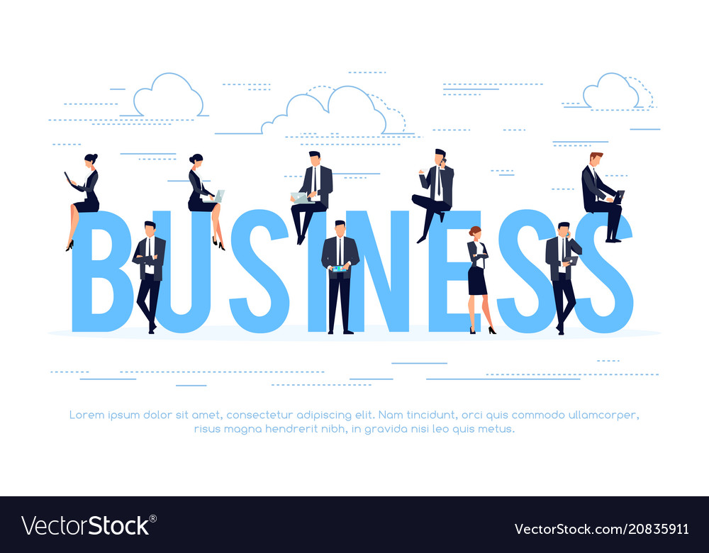 Business business concept vector image