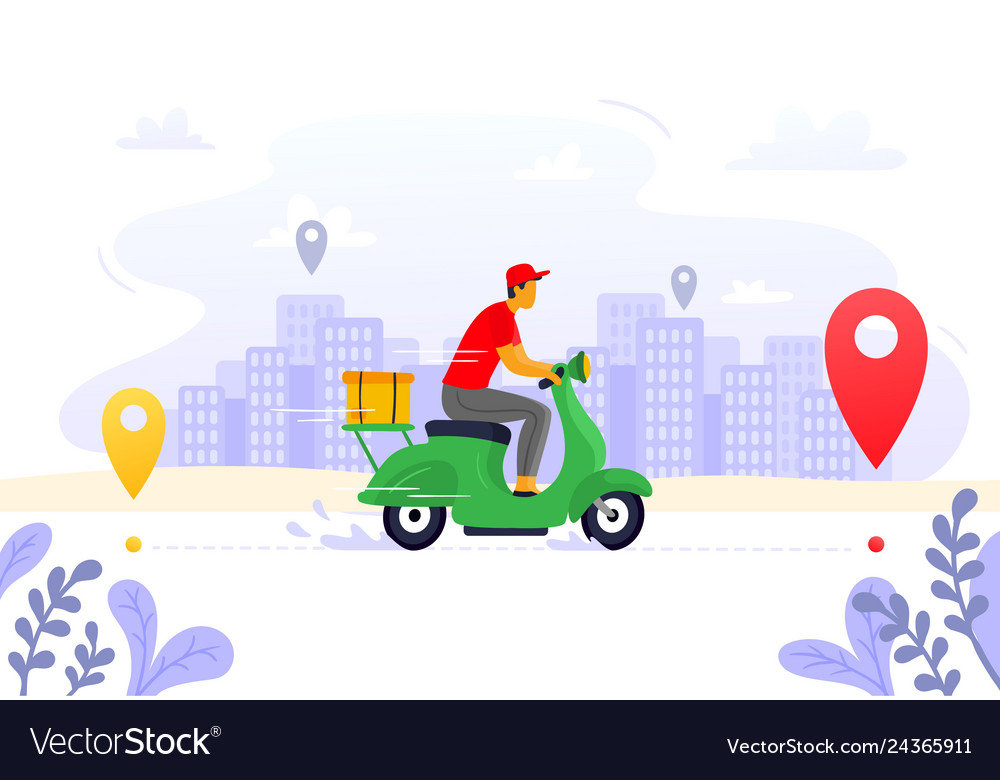 Food delivery express courier supply carrier on