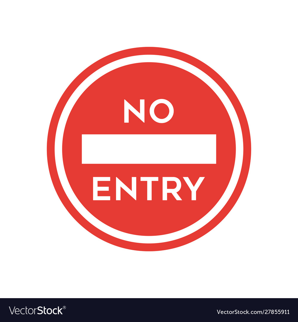 No entry sign icon simple flat style