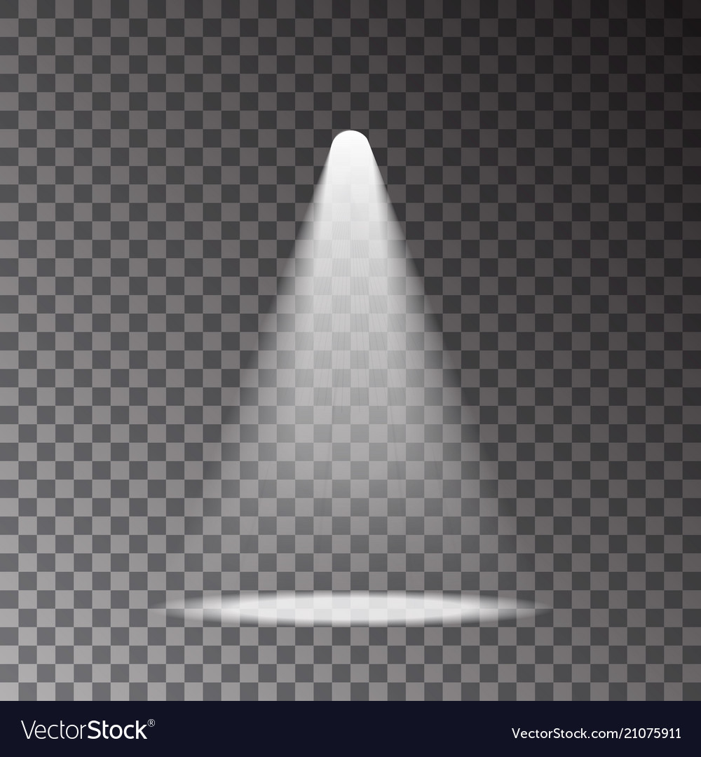 Scene with light ray isolated on transparent backg vector image