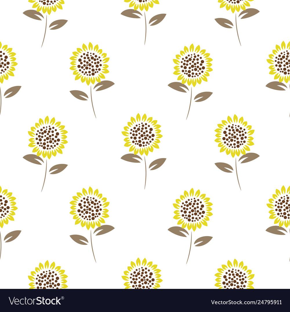 Simple meadow florals tender colors seamless